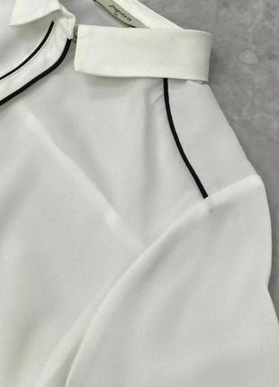 Классическая блуза с контрастной отделкой  bl1902137 papaya3 фото
