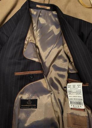 Дизайнерский костюм prada.  woolmark италия