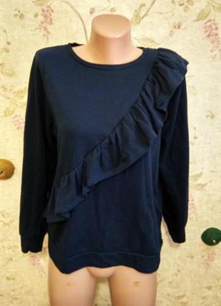 Dorothy perkins синий свитер cotton размер 12