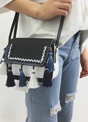 Новая c бирками роскошная сумочка кросс-боди с кисточками
