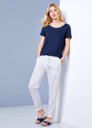 Летние льняные брюки от tchibo р. 46  европ, наш 52