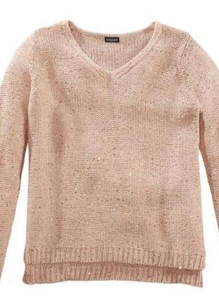 Пуловер с пайетками р.s 36-38 esmara германия свитер