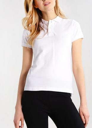 Белая женская футболка поло тениска размеры испания 100% коттон