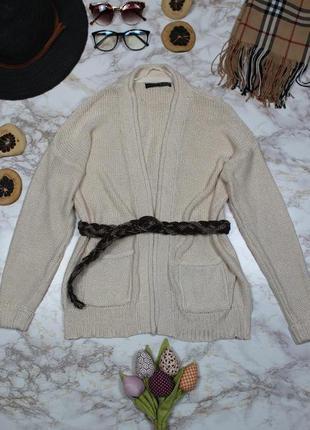 Обнова! кардиган свитер кофта джемпер вязанный молочный