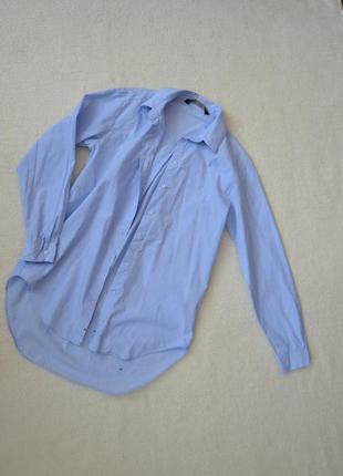 Удлиненная рубашка, классика, приталенная