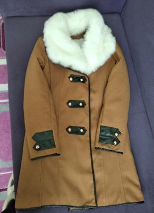 Оригінальне зимове пальто.1 фото
