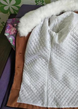 Оригінальне зимове пальто.3 фото