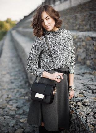 Серый меланжевый свитер select