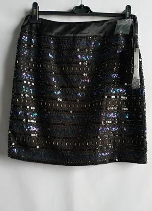 Женская юбка в пайетки немецкого бренда vera mont сток из европы