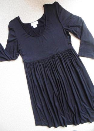Стильное платье укороченный рукав тоненькое легкое черное 48-50 стретч