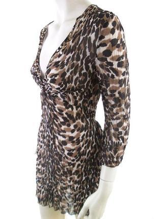 Пляжное платье, туника леопардовая.
