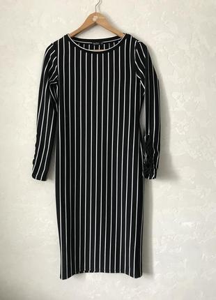 Облагающее платье в полоску bershka