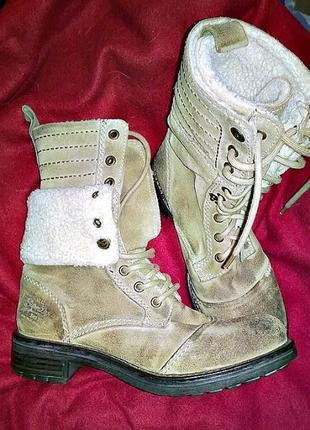Ботинки зимние. натуральный замш. размер 39 ( 25,5 см ). япония.