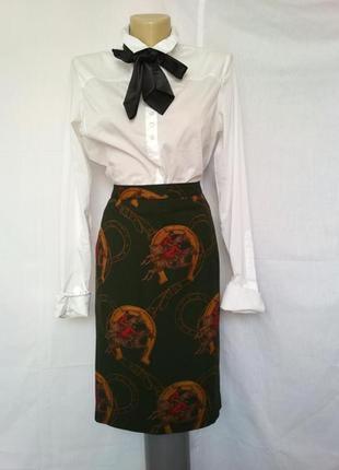 Эксклюзив, роскошная юбка в стиле hermes, шерсть
