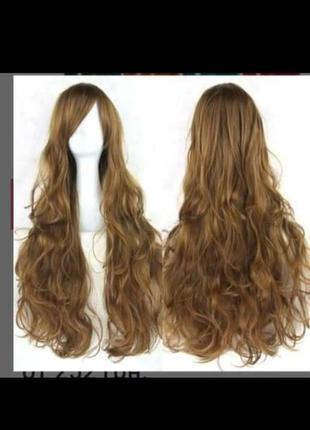 Продам парик коричневый длинный