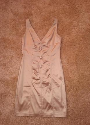 Коктейльне атласне плаття