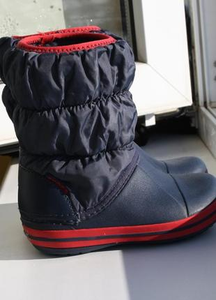 Легкие сапоги деми зима crocs 25 размер (c8) оригинал