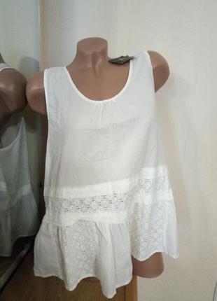 Нежная натуральная блуза 54 размер