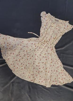 Платье халат миди peacocks англия