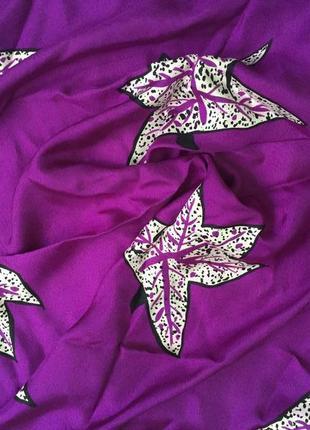 Винтажный красивенный шелковый платок givenchy. оригинал/100%шелк/шов роуль