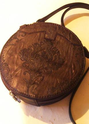 Кожаная сумка клатч италия