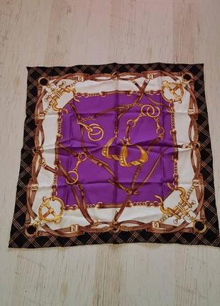 Небольшой шелковый платок в стиле hermes elegance paris
