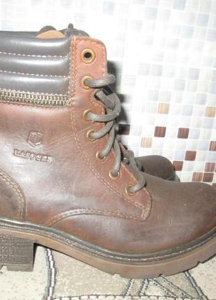 Крепкие ботинки  lasocki р.37.натур.нубук.оригинал.сток7 фото
