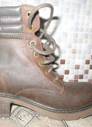 Крепкие ботинки  lasocki р.37.натур.нубук.оригинал.сток10 фото