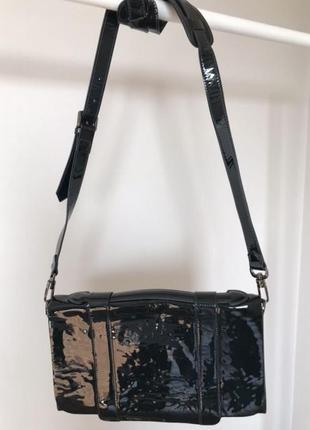 Кожаная женственная сумка клатч