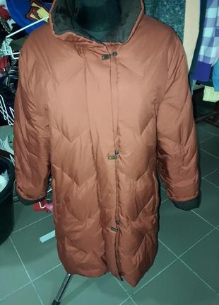 Шикарное пуховое пальто-пуховик