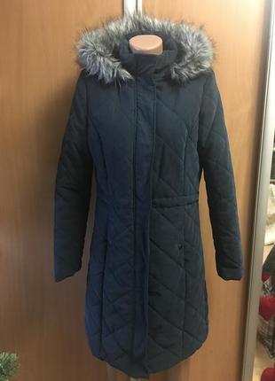 Пальто деми стеганое на синтепоне размер с 10-12