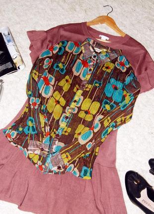 Яркая шифоновая блуза/рубашка