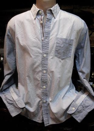 Easy premium vintage (оригинал) бангладеш комбинированная джинсовая рубашка