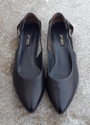 Кожаные балетки босоножки туфли paul green 40 р. оригинал