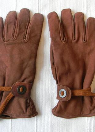 Длинные кожаные без пальцев