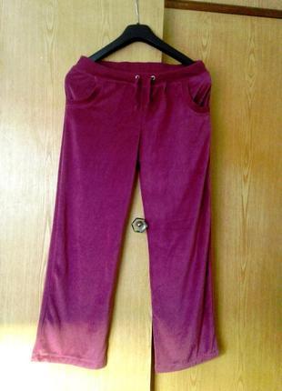 Хлопковые велюровые розовые штанишки, 10/ m.
