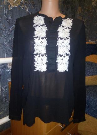 Вышитая блуза