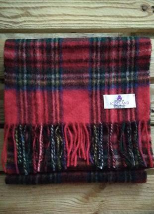 Шотландский шарф в тартан 100% шерсть