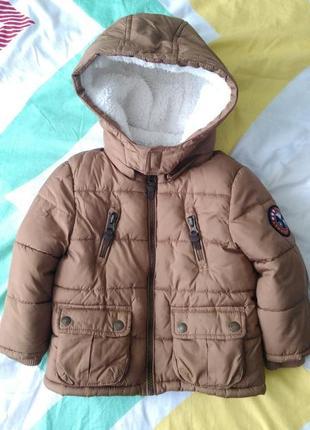 Тепла куртка f&f, 12-18міс, 86 р. (еврозима)