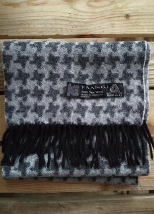 Шерстяной шарф в клетку 100% шерсть