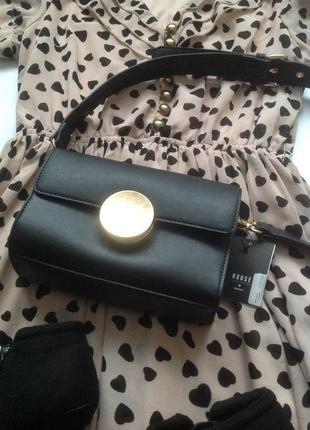 В наличии новая сумочка через плечо в чёрном цвете с биркой hause