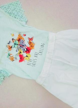 Шикарный комплект на девочку юбка  футболка