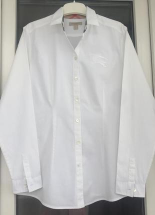 Burberry оригинал белая базовая рубашка с-м