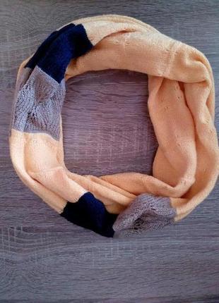 Яркий разноцветный шарф хомут ,польша