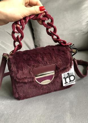 Новая стильная сумка из меха от итальянского бренда roccobarocco (оригинал)