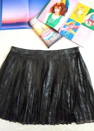 Юбка гофре под кожу / юбка в складку / гафрированная юбка