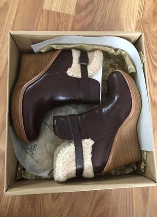Кожаные сапоги,сапожки,туфли с мехом,на платформе,танкетке
