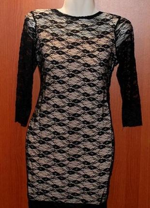 Гипюровое платье с открытой спиной+пояс в подарок