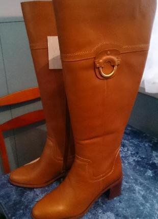 Сапоги кожаные franco satro, новые, 39 размер, на ногу 24,5-25см