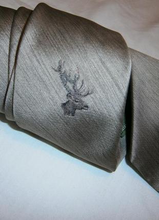 Классный винтажный галстук с оленем